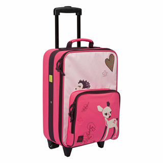 Lässig Kinderkoffer Trolley, Little Tree Fawn, pink/rosa